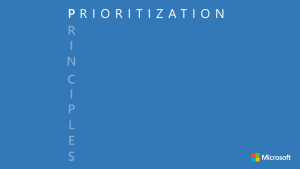 Principle P - Prioritization